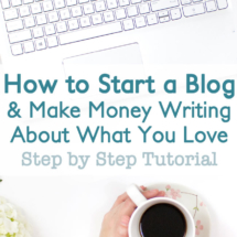 Looking for a fun side hustle or full time job that you can work from home? Learn how to start a blog and make money writing about what you love.